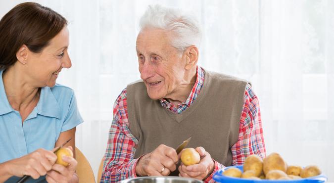 Betreuung von älteren/kranken Menschen